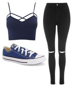 """""""Untitled #480"""" by cuteskyiscute ❤ liked on Polyvore featuring Charlotte Russe, Topshop, Converse and plus size clothing"""