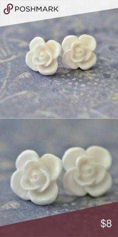 Handmade Rose Stud Earrings Beautiful handmade rose stud earrings Handmade   Jewelry Earrings