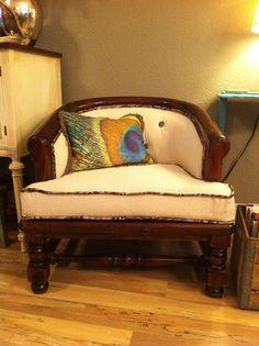 The Peacock Door: Barrel Back Chair