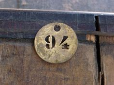 Antique Brass TAG FRENCH Hotel Room KeY FOB by CreativeARTifacts