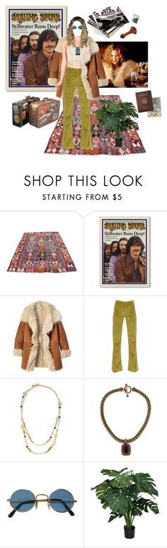 """its! all! happening! penny lane from almost famous"" by forgottenfashions ❤ liked on Polyvore featuring Toast, The Seafarer, Sequin, Stephen Dweck, Royce Leather, vintage, teen, 70s and teenage"