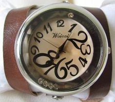 Fashionable Unisex Wrist Watch With Wrap Leather Strap by ORLOGIN