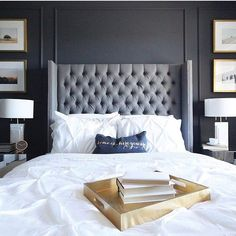 @leclairdecor know that glamorous beds call for rooms with dramatic flair. We love this amazing bedroom! #mystructubestyle #structube