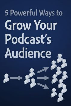 Nearly every podcaster wants a bigger audience. Simply promoting your podcast isn't good enough, you need to actually grow your audience. These five methods will give you the best growth! Content Marketing, Social Media Marketing, Business Marketing, Make Money Blogging, How To Make Money, Money Tips, Business Tips, Online Business, Craft Business