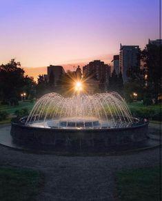 Saturday Morning, Calgary, Fountain, Canada, Clouds, Outdoor Decor, Travel, Instagram, Viajes