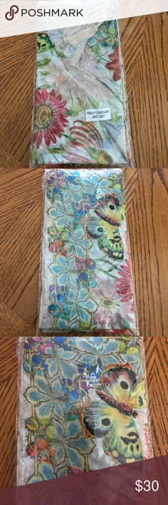 Johnny Was Scarf Beautiful floral Scarf with tassels. New never been opened! Johnny Was Accessories Scarves & Wraps