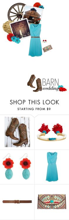 """""""Best Dressed Guest: Barn Weddings"""" by leslee-dawn ❤ liked on Polyvore featuring Corral, Aurélie Bidermann, Fenn Wright Manson, Dorothy Perkins, Mary Frances Accessories and country"""