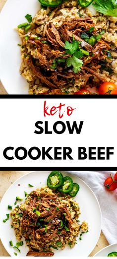 This Keto Slow Cooker Beef  that you can make on the weekend for meal prep is PERFECT for my keto diet.  I am so happy I found this delicious  low carb recipe.  Is is easy to make and SO full of flavor.  #keto #kickingcarbs #lowcarb #dinner #healthy  #recipe Low Carb Slow Cooker, Slow Cooker Beef, Slow Cooker Recipes, Crockpot Recipes, Cooking Recipes, Thai Beef Salad, Keto Taco Salad, Dinner Healthy, Keto Dinner