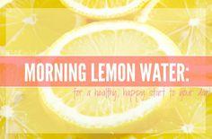 Your New A.M. Habit-Lemon Water