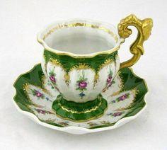 Green tea cup and saucer set