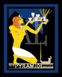 nice vintage poster egyptian revival