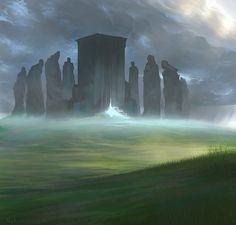 The Temple of Death Concept Art by ~noahbradley on deviantART bonetech3d #bonetech3d followback #followback