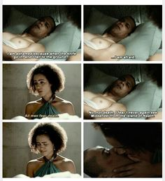 Grey Worm and Missandei, these guys are climbing my list of GOT OTPS, this scene was beautiful. So cool to explore the fact that life and love do not stop just because horrible things have been done to both of them. Kudos show!