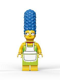Les photos officielles des figurines Lego des Simpsons #marge #jouets #legos