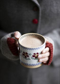 Hot Cocoa :) and Fingerless glove