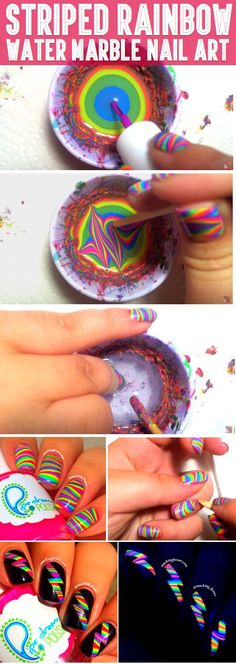 She Poured Nail Polish Into Water. The End Result? I Need To Try This! - VIDEO TUTORIAL