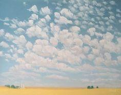 Oklahoma Skies, pastel on rag board.