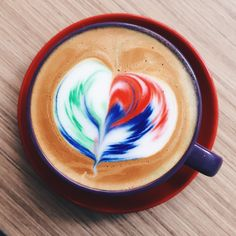Rainbow Latte is the latest thing in coffee art, and it's now in the Philippines