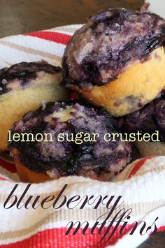 The Sweet Talker: Lemon Sugar Crusted Blueberry Muffins