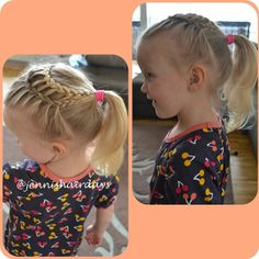A ladderbraid ponytail on my smallest one. #ladderbraid #ponytail