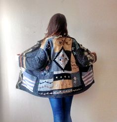 Winter Jacket Boho Chic Clothing Recycled by boutiqueseragun
