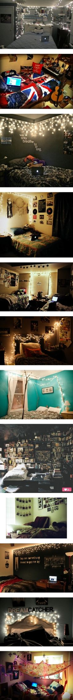 Indie/Hipster Bedroom Inspiration by for-the-love-of-tips ... I like the 1one ,2 one , 3 one and the 10 one