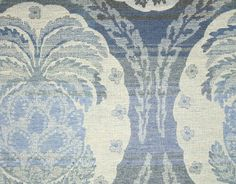 $158 Tinto Wool Fabric A pineapple woven wool fabric in blues and stone