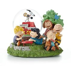 Charlie Brown Snow Globe by Hallmark Snoopy and Gang Musical Limited Edition Peanuts Gallery  Happiness is Contagious >>> Be sure to check out this awesome product.