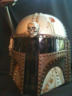 Steampunk Boba Fett Helmet