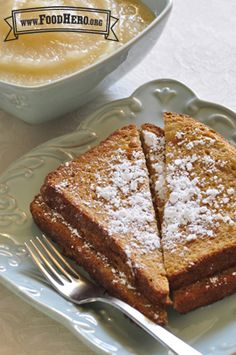 Oven French Toast | Food Hero - Healthy Recipes that are Fast, Fun and Inexpensive. #healthyfrenchtoast