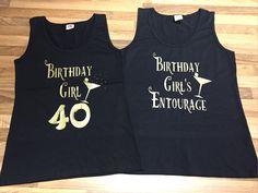 Birthday girl t-shirt, birthday entourage t-shirt, 40th birthday t-shirt , 50th birthday t-shirt , birthday gift, birthday tank top, 60th,30 by personaliseddiamante on Etsy