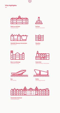 Icons of Amsterdam on Behance