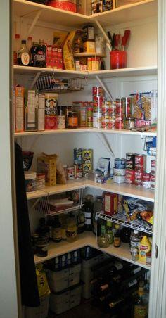 organize corner pantry