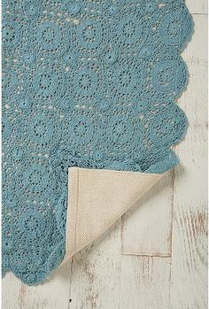 Tough yet delicate looking crochet is a great choice for rugs.