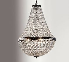 "Mia Faceted-Crystal Chandelier - Pottery Barn -   Small (13.5"" Diameter) $299 --    Large (19"" Diameter)  $499"