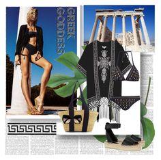 """Greek Goddess"" by stylepersonal ❤ liked on Polyvore featuring Merola, Glamorous, Michael Kors, Muuñ, Vince, Prada, swimwear, Greece and summer2015"