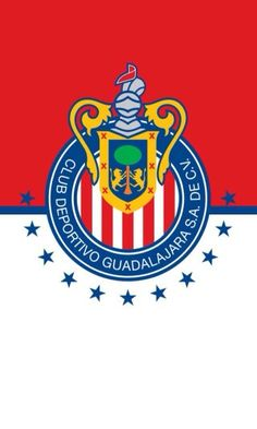 D Guadalajara logo. Each star represents a championship won. The last championship they won was in Chivas Wallpaper, Chivas Soccer, Football Centerpieces, Messi Vs Ronaldo, Painted Signs, Fifa, Iphone Wallpaper, Sign Painting, Atlas
