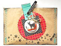 Fräulein Pilzrausch: Umschlag mit abnehmbarem Weihnachtsanhänger
