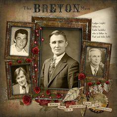 The Breton Men...wonderful masculine layout