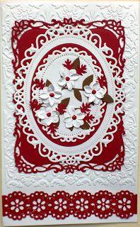 Holiday Flourish die cut Christmas Card