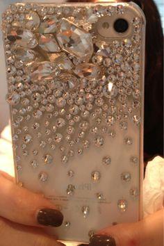Iphone case w/ Swarovski crystals