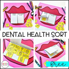FREE Dental Health Activity for preschool, kindergarten, 1st grade