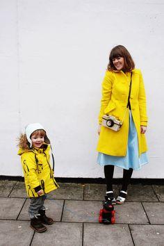 What We Wore - Walking the dog - yellow coat