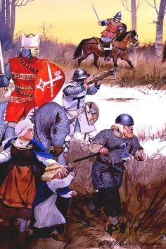 Angus Mc Bride - La Batalla del Lago Peipus - 1242