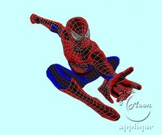 Awesome Spiderman Design for Embroidery Machines 4x4 - instant download | EmbroideryDesigns - Patterns on ArtFire
