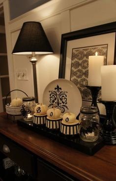 Black & White Halloween Decorations