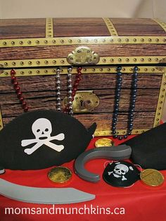 Ahoy Matey! Pirate Party ideas including invites, decor, fun activities, unique food ideas & treat bags.
