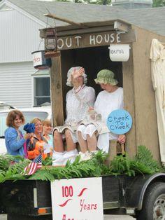Stonington 4th of July parade. Maine humor Love it!