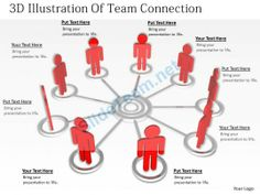 1813 3D Illustration of Team Connection Ppt Graphics Icons Powerpoint #Powerpoint #Templates #Infographics