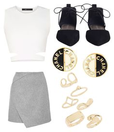 """""""Untitled #74"""" by journeycarothers on Polyvore featuring Topshop, Chanel and BCBGMAXAZRIA"""
